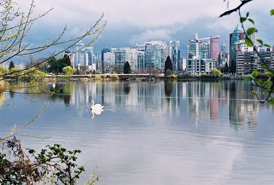 East view of Lost Lagoon, Vancouver, Canada